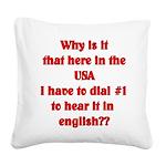 english Square Canvas Pillow
