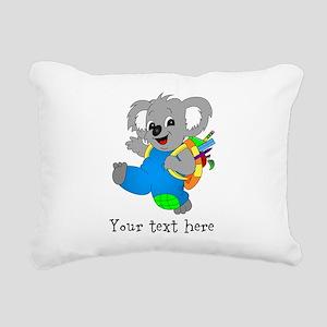 Personalize it - Koala bear with backpack Rectangu