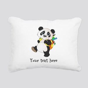 Personalize it School Panda Rectangular Canvas Pil
