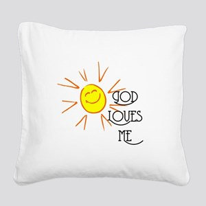 godlovesme Square Canvas Pillow