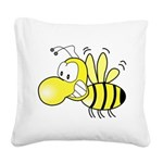 The Original Cute Bee Square Canvas Pillow