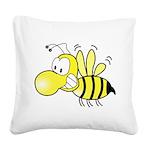 Original Cute Stinger Bee Square Canvas Pillow