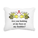 Are you looking at my bees Rectangular Canvas Pill