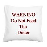 feeddieter Square Canvas Pillow