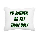 fatugly Rectangular Canvas Pillow