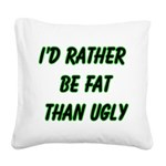 fatugly Square Canvas Pillow