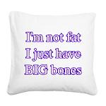 bigbonespurpblk Square Canvas Pillow