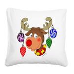 christmasdeer Square Canvas Pillow