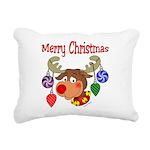 christmasdeer3 Rectangular Canvas Pillow