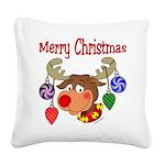 christmasdeer3 Square Canvas Pillow