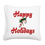 happyholidays Square Canvas Pillow
