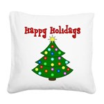 happyholidaystree Square Canvas Pillow