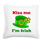 Kiss Me I'm Irish Hat ver2 Square Canvas Pillow