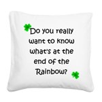 End of the Rainbow Square Canvas Pillow