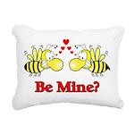 Be Mine Bees Rectangular Canvas Pillow