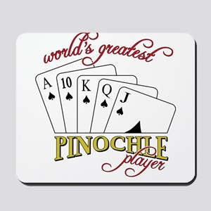 Pinochle Player Mousepad