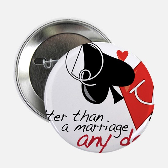 """Better than a Marriage 2.25"""" Button"""
