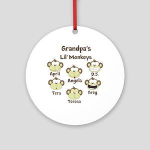 Grand kids monkeys Ornament (Round)
