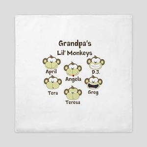 Grand kids monkeys Queen Duvet