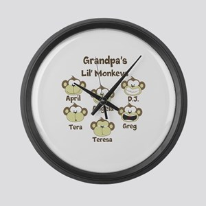 Grand kids monkeys Large Wall Clock