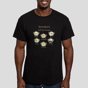 Grand kids monkeys Men's Fitted T-Shirt (dark)