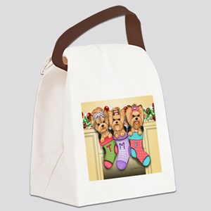 Christmas pups Canvas Lunch Bag