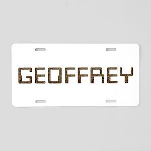 Geoffrey Circuit Aluminum License Plate