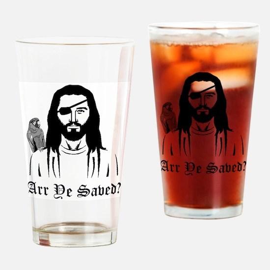 Pirate Jesus Drinking Glass