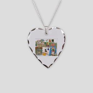 Mr. Pumpkin Depot Loves the Movies. Necklace Heart