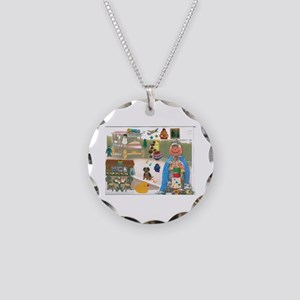 Mr. Pumpkin Depot Loves the Movies. Necklace Circl