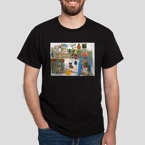 Mr. Pumpkin Depot Loves the Movies. Dark T-Shirt