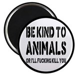 """Be Kind To Animals 2.25"""" Magnet (10 pack)"""