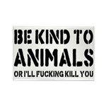 Be Kind To Animals Rectangle Magnet (10 pack)