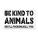 Be Kind To Animals Rectangle Car Magnet
