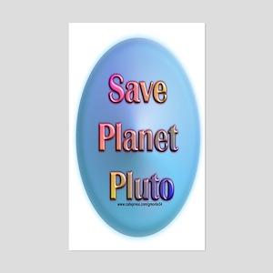 Save Planet Pluto Rectangle Sticker