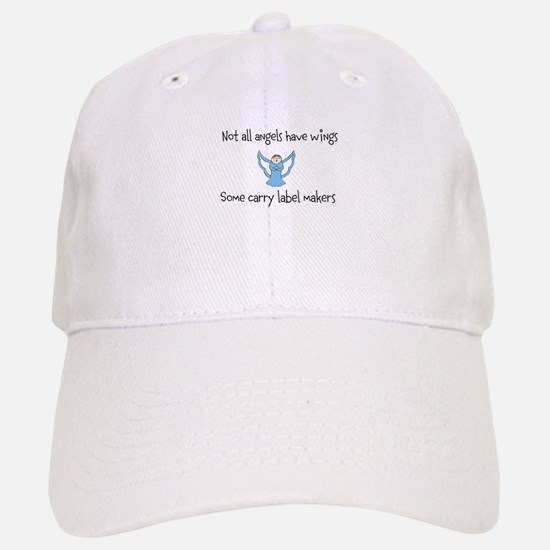 Angels with label makers Baseball Baseball Cap