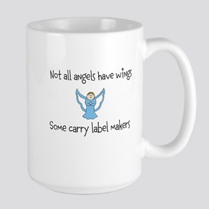 Angels with label makers Large Mug