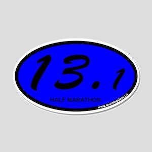 Oval 13.1 Half Marathon Blue 20x12 Oval Wall D