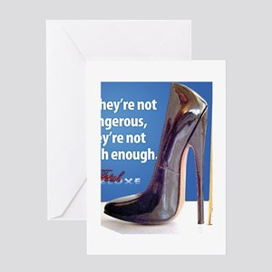 fetish shoes Greeting Cards