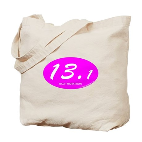 Pink Oval 13.1 Half Marathon p Tote Bag
