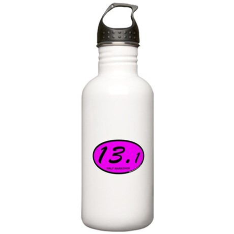 Pink Oval 13.1 Half Marathon.png Stainless Water B