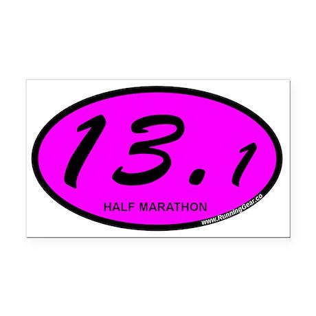 Pink Oval 13.1 Half Marathon.png Rectangle Car Mag