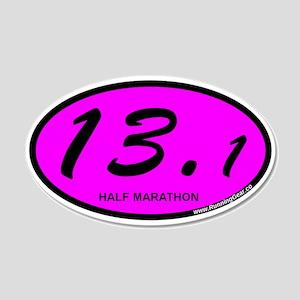 Pink Oval 13.1 Half Marathon 20x12 Oval Wall D