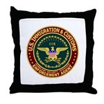 IMMIGRATION & CUSTOMS - ICE:  Throw Pillow