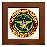IMMIGRATION & CUSTOMS - ICE: Framed Tile