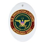 IMMIGRATION & CUSTOMS - ICE: Oval Ornament