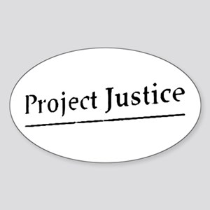 Project Justice Oval Sticker