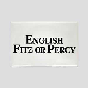 English, Fitz or Percy Rectangle Magnet