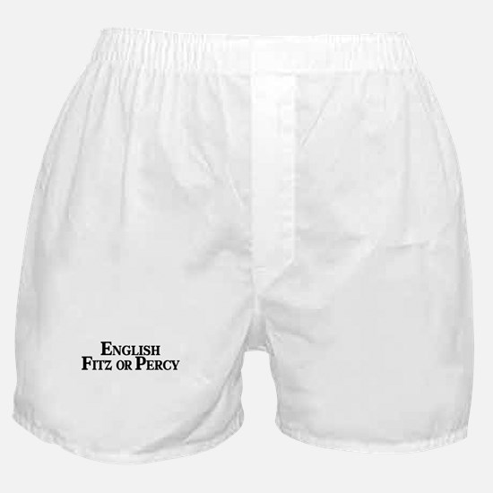 English, Fitz or Percy Boxer Shorts