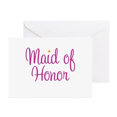 Maid of Honor Greeting Cards (Pk of 10)